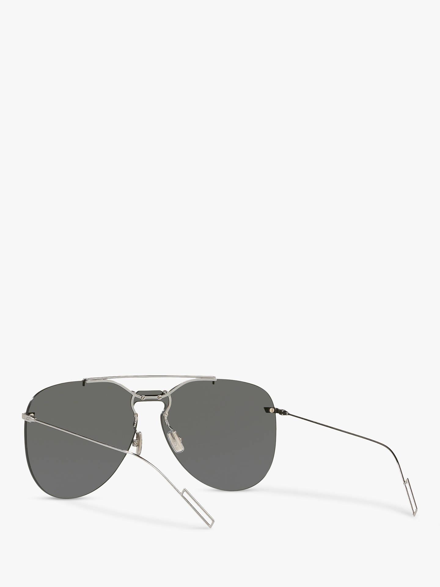 8a4f6e74b31b ... Buy Dior Dior0222S Men's Aviator Sunglasses, Silver/Grey Online at  johnlewis. ...