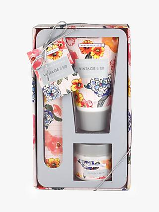 Vintage & Co. Patterns & Petals Nail Care Set