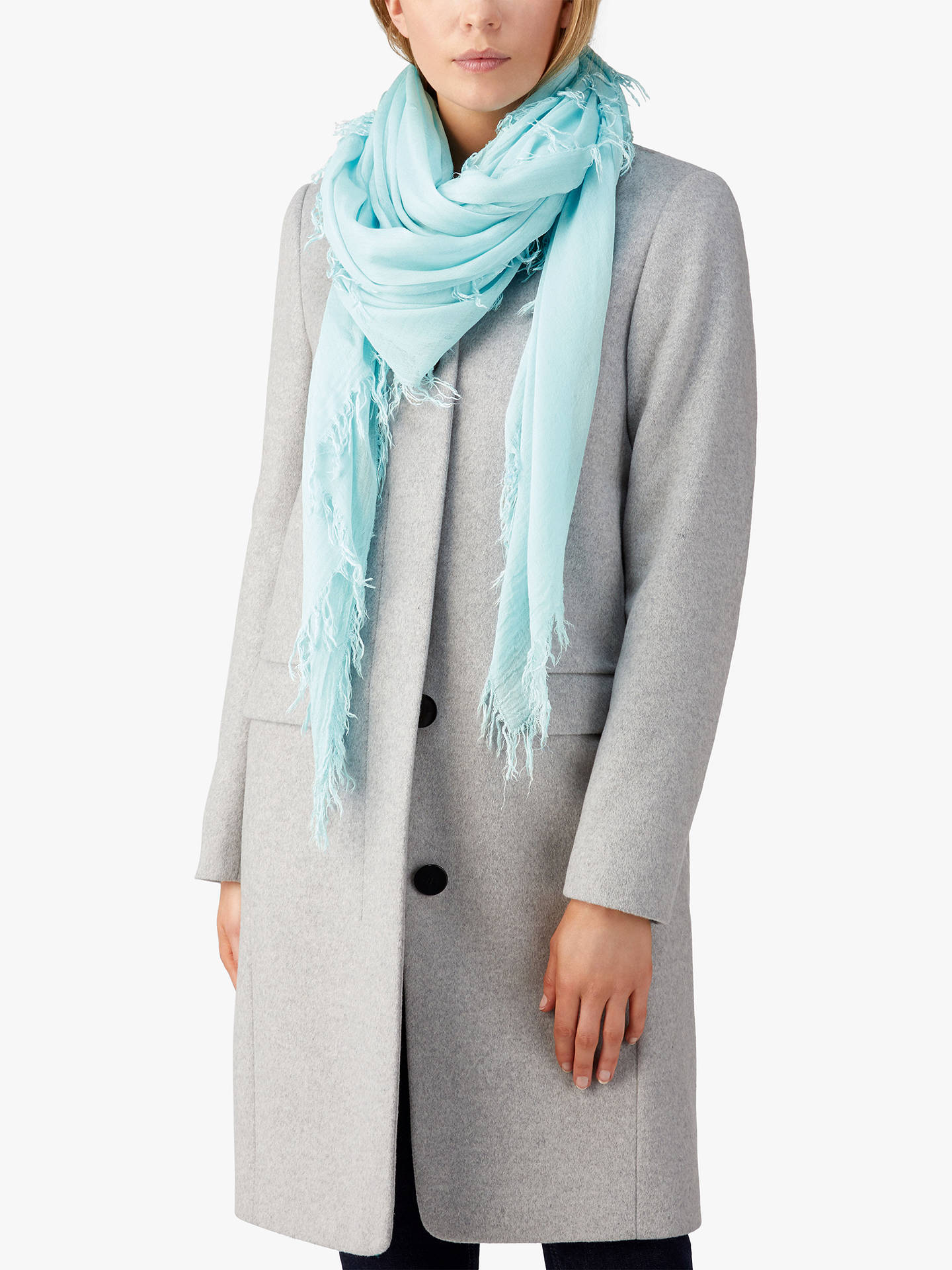 Buy Pure Collection Ultra Soft Scarf, Frosted Opal Online at johnlewis.com