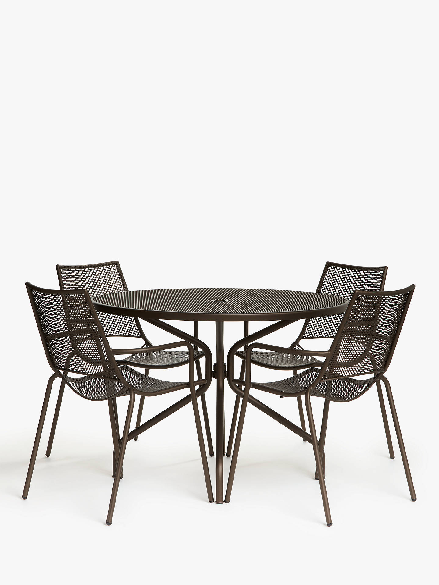Ala Mesh 8-Seat Garden Dining Table and Chairs Set, Bronze