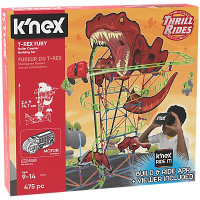 K'Nex 27152 T Rex Fury Roller Coaster Building Set