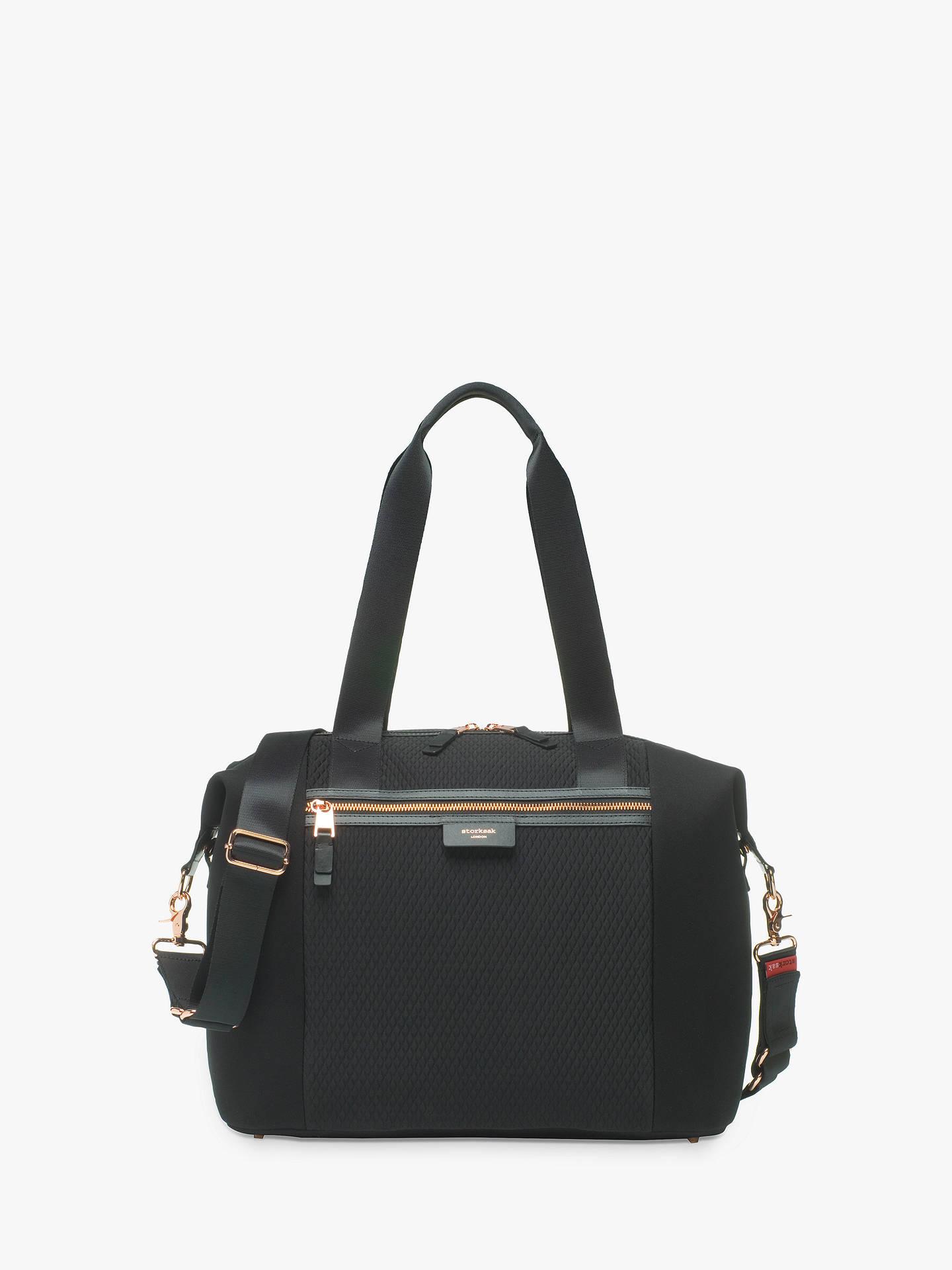 1e03948dd Buy Storksak Stevie Luxe Changing Bag, Black Scuba Online at johnlewis.com  ...