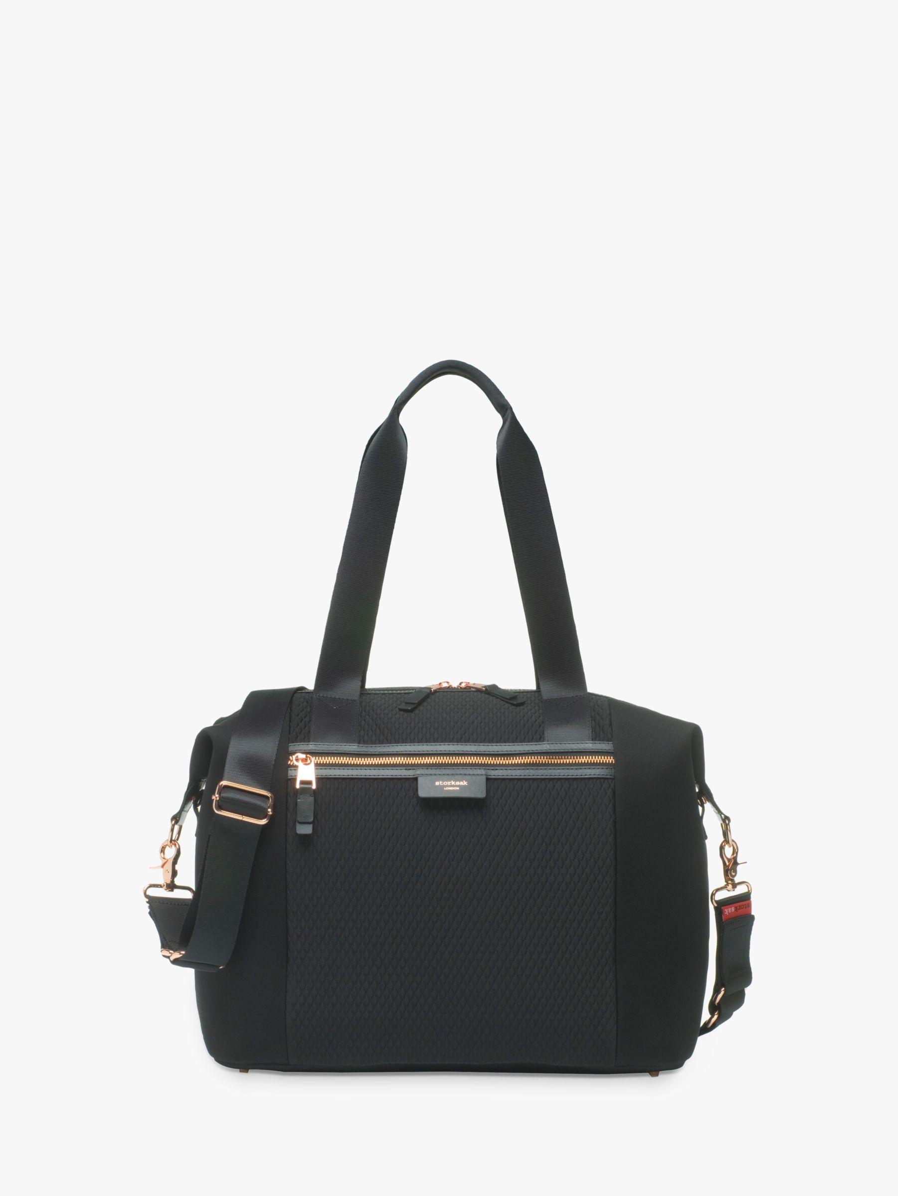 Storksak Storksak Stevie Luxe Changing Bag, Black Scuba