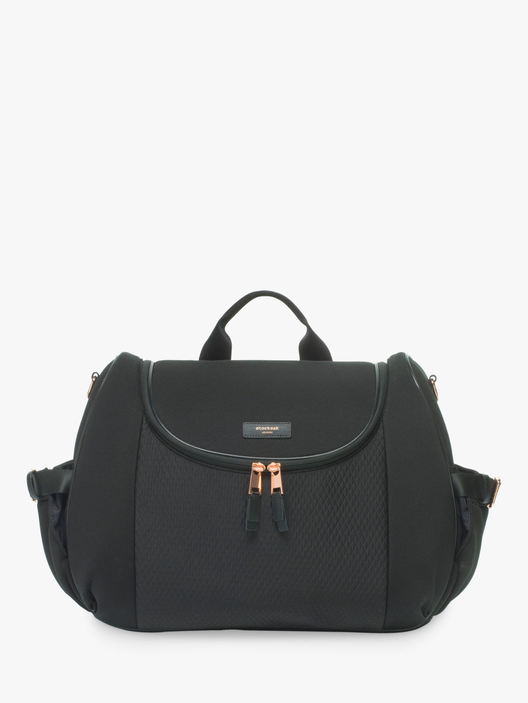 Storksak Storksak Poppy Luxe Convertible Backpack Changing Bag, Black Scuba