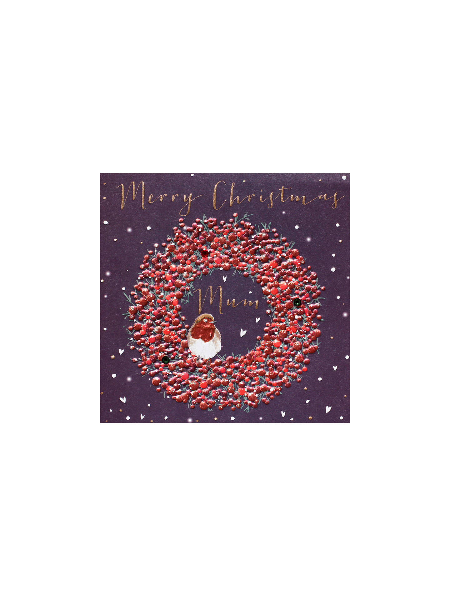 BuyBelly Button Designs Mum Wreath Christmas Card Online at johnlewis.com