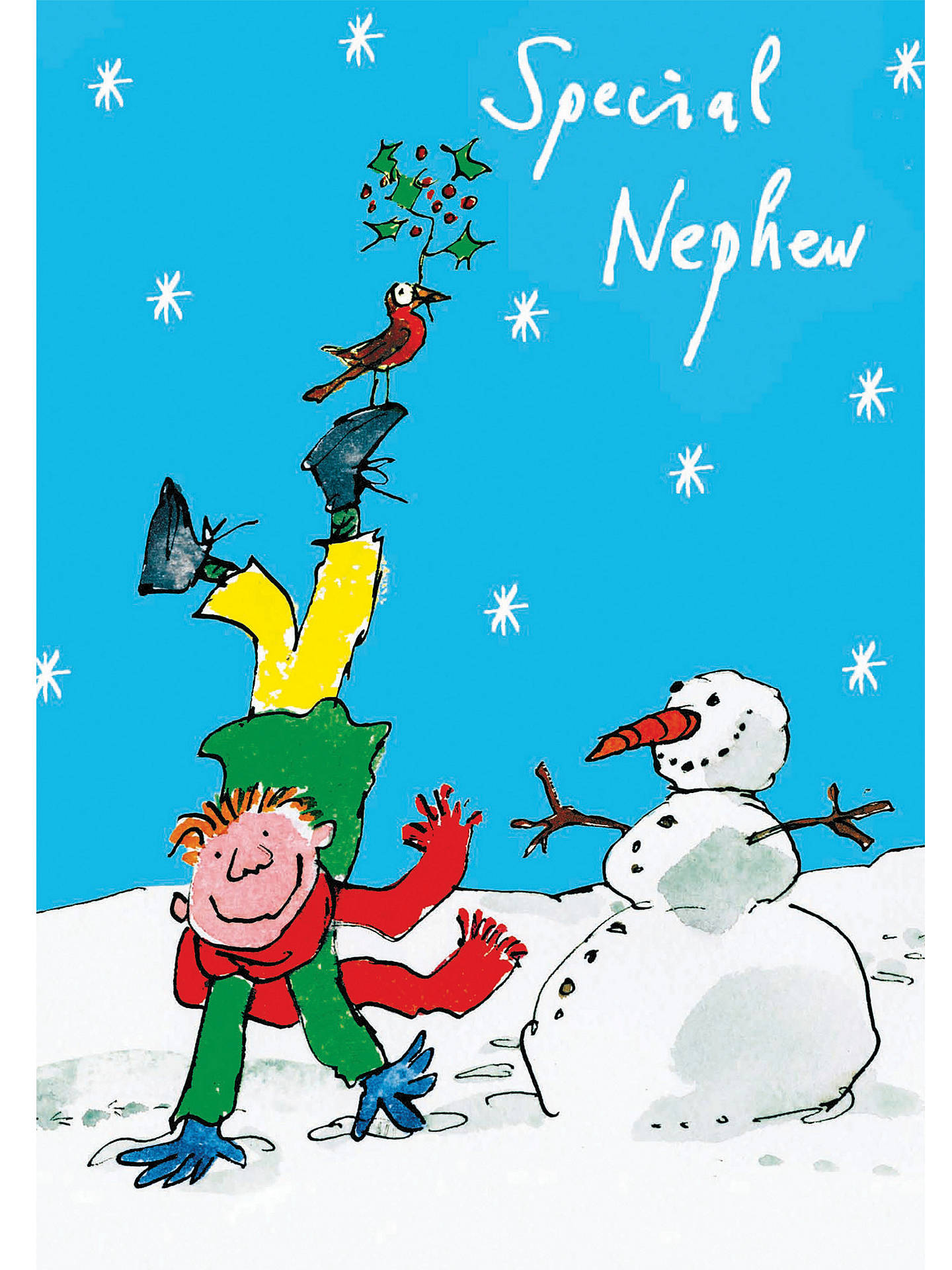 woodmansterne special nephew christmas card at john lewis partners