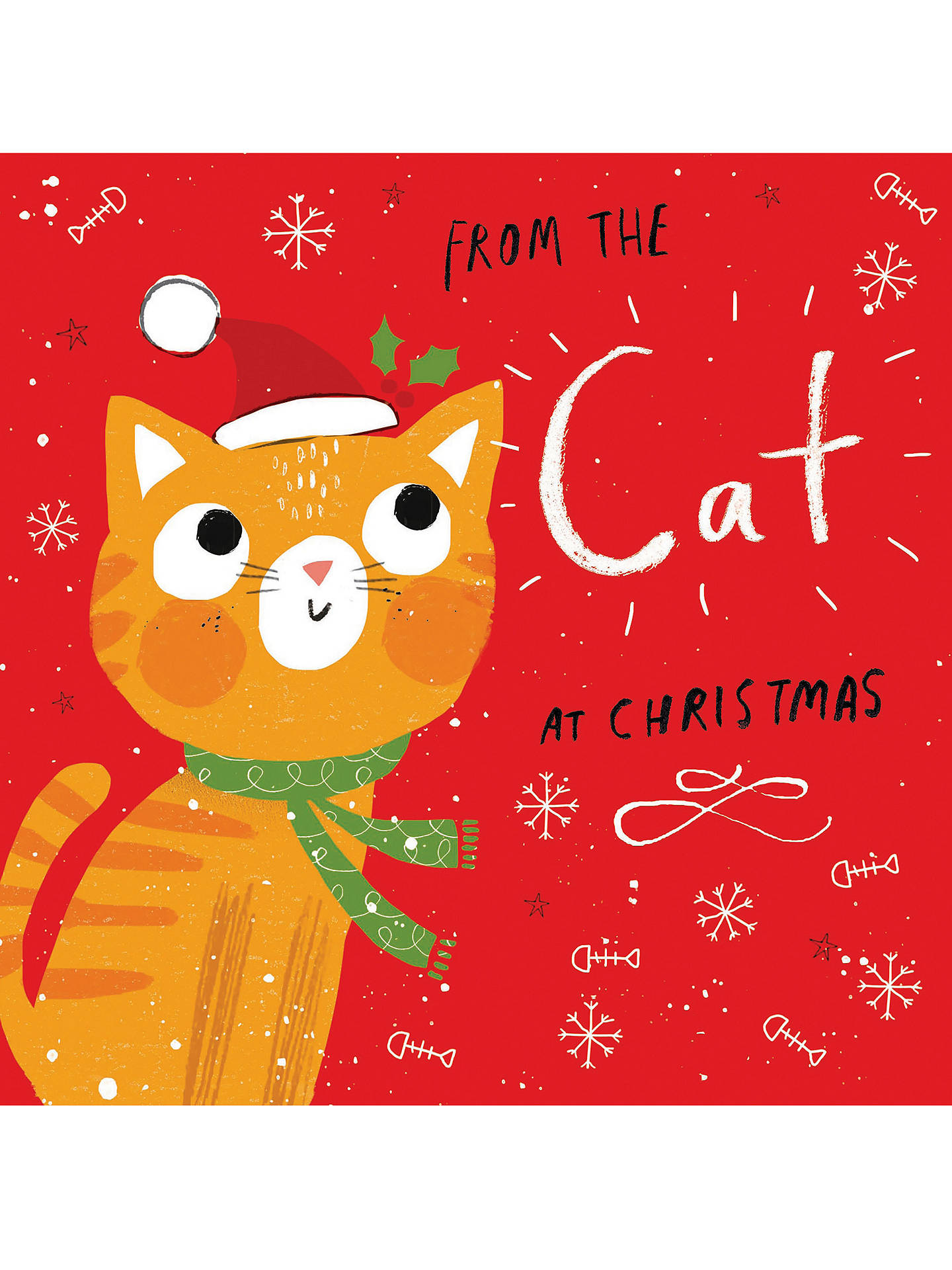 BuyCardmix From The Cat Christmas Card Online at johnlewis.com
