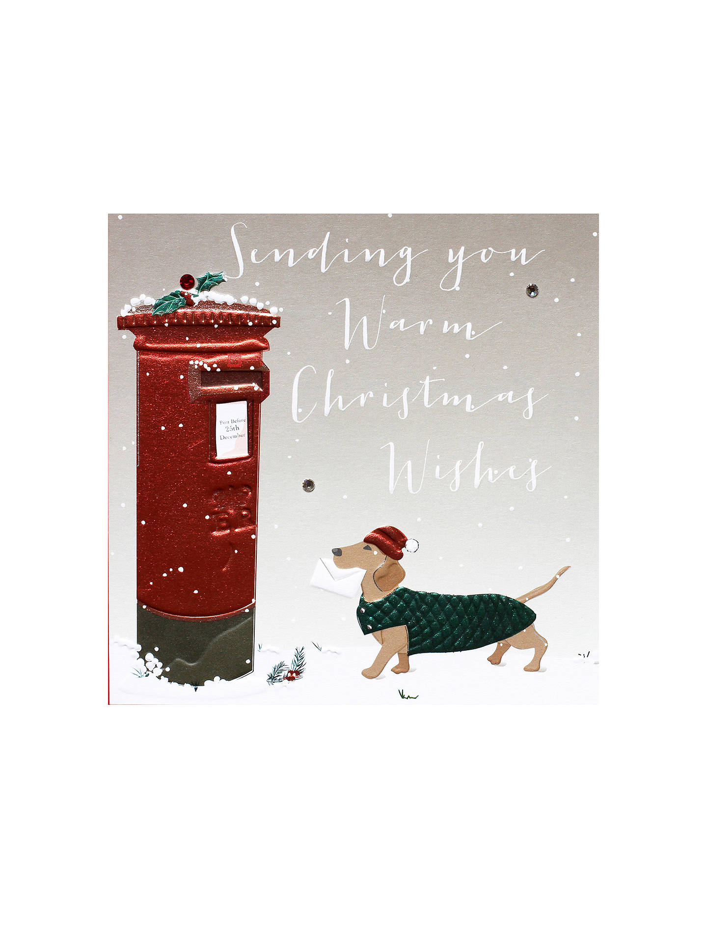 BuyBelly Button Designs Christmas Wish Dog Christmas Card Online at johnlewis.com