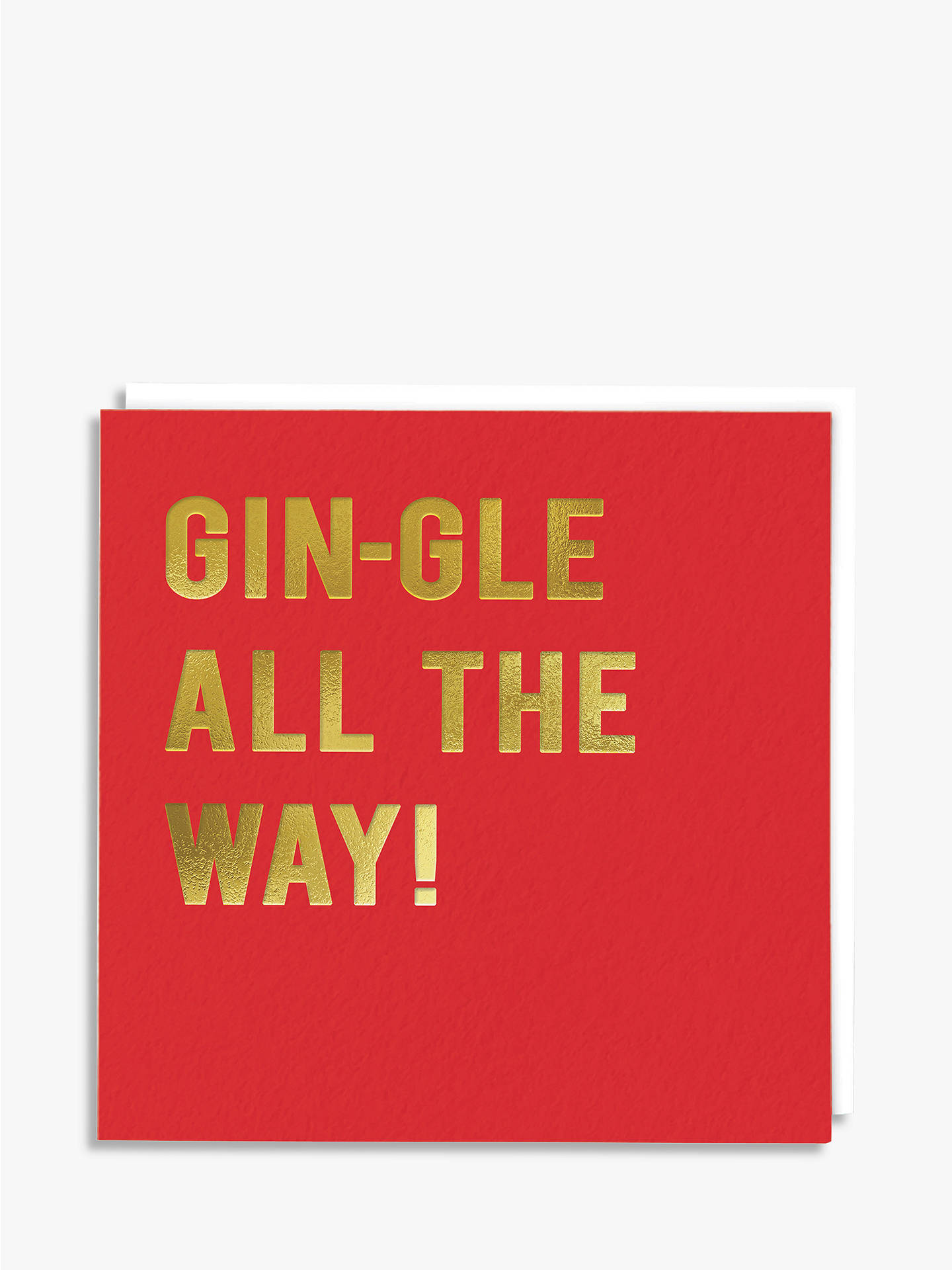 BuyRedback Cards Gin-Gle All The Way Christmas Card Online at johnlewis.com