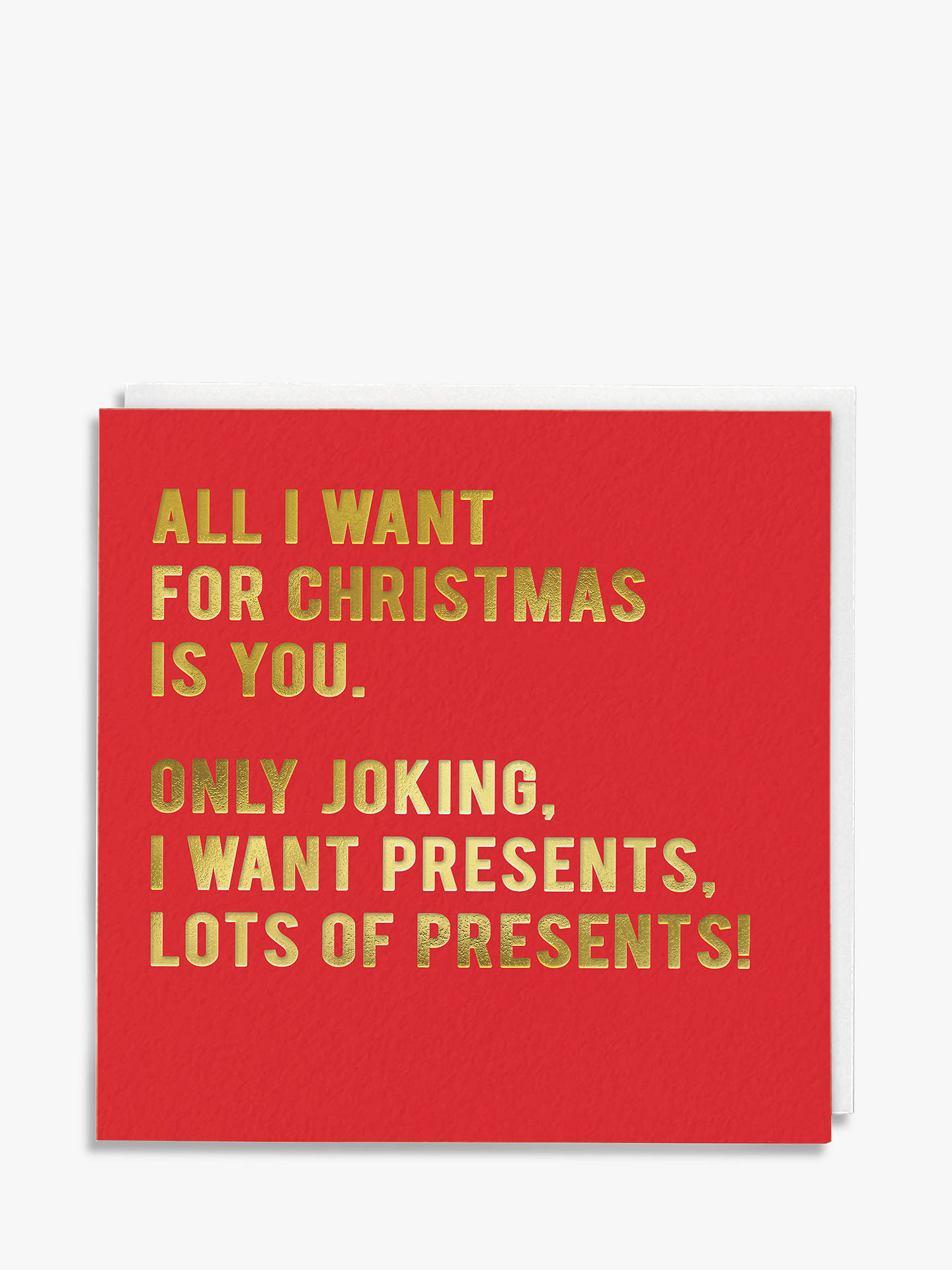 BuyRedback Cards Presents Christmas Card Online at johnlewis.com