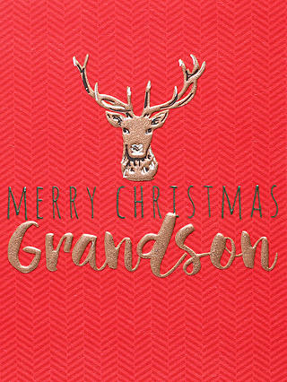 Buy Belly Button Designs Grandson Christmas Card Online at johnlewis.com