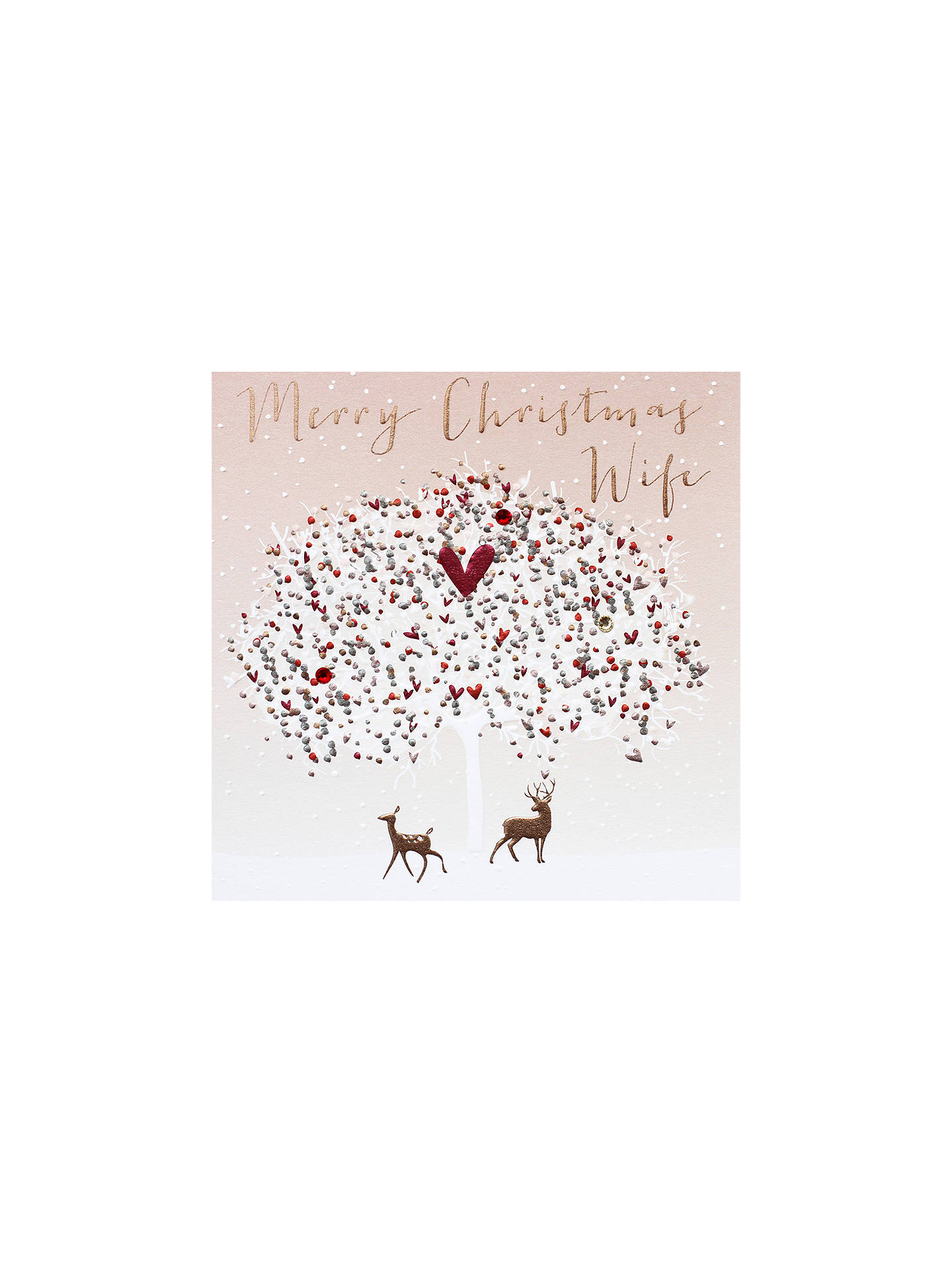 BuyBelly Button Designs Wife Tree Christmas Card Online at johnlewis.com