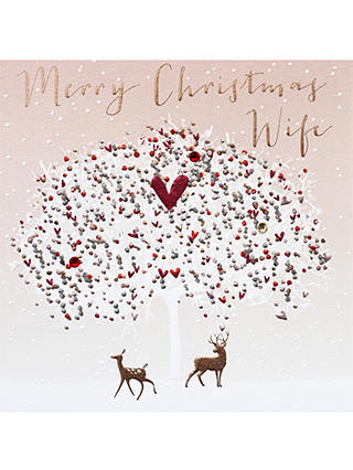 Buy Belly Button Designs Wife Tree Christmas Card Online at johnlewis.com