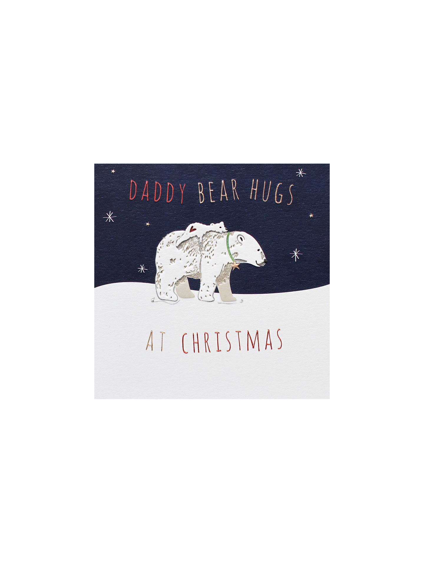 BuyBelly Button Designs Daddy Bear Hugs Christmas Card Online at johnlewis.com