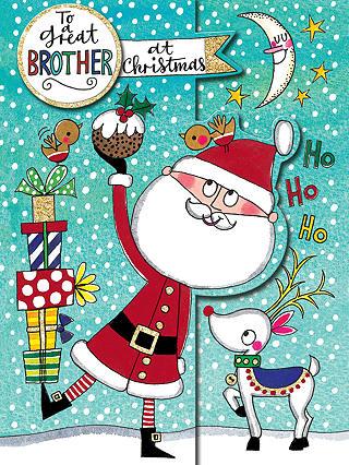 Rachel Ellen Great Brother Christmas Card at John Lewis & Partners