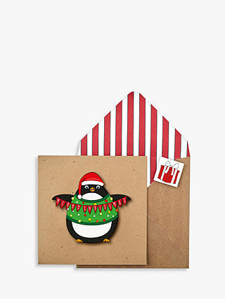 Buy Tache Cards Penguin Christmas Card Online at johnlewis.com
