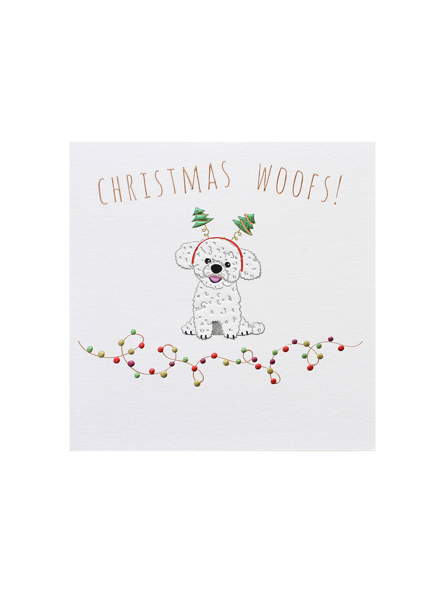 Belly Button Designs Christmas Woofs Christmas Card at John Lewis ...