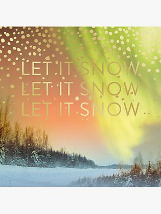 Mint Let It Snow Christmas Card