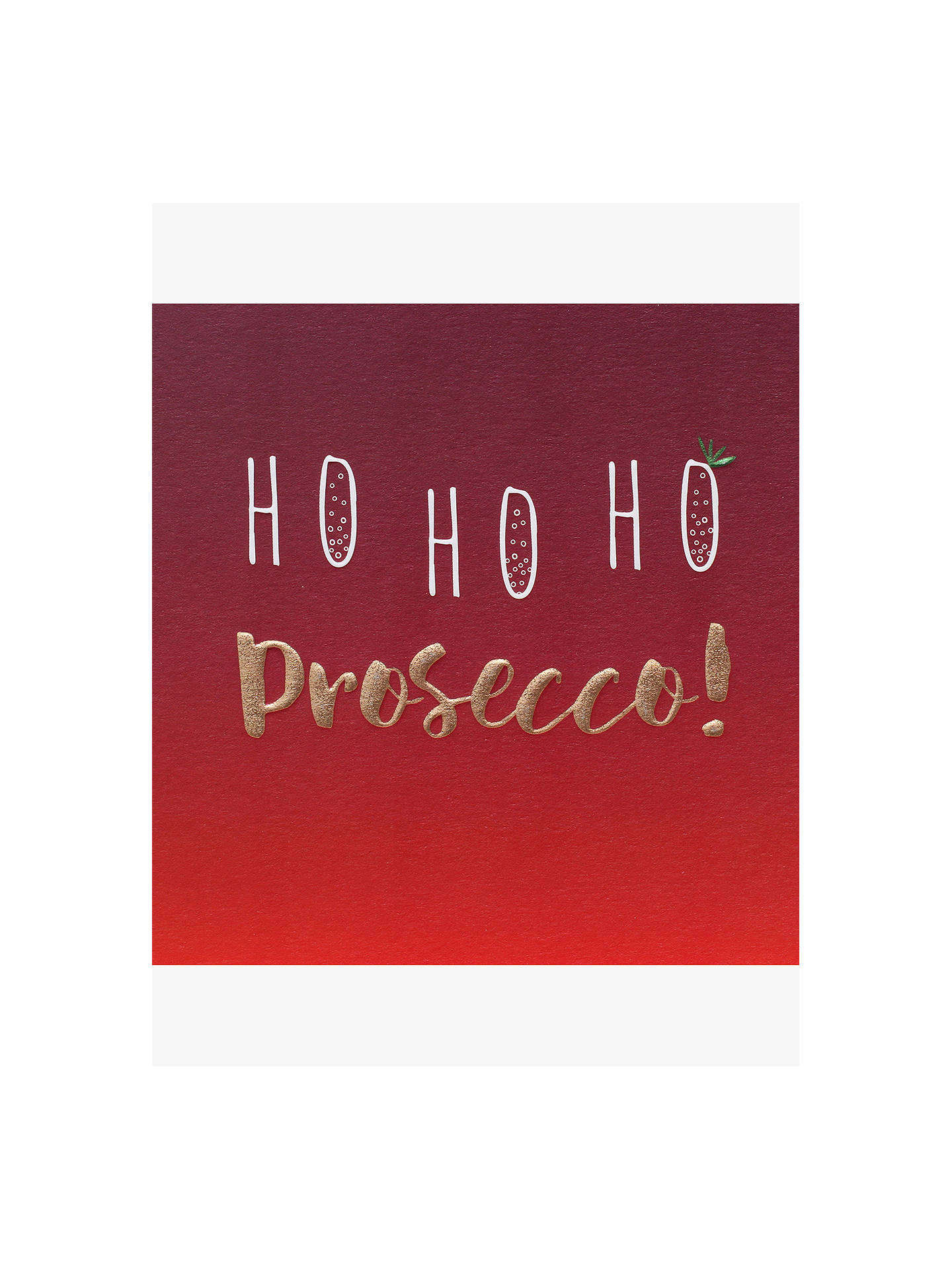 BuyBelly Button Designs Ho Ho Ho Prosecco Christmas Card Online at johnlewis.com