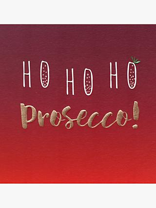 belly button designs ho ho ho prosecco christmas card