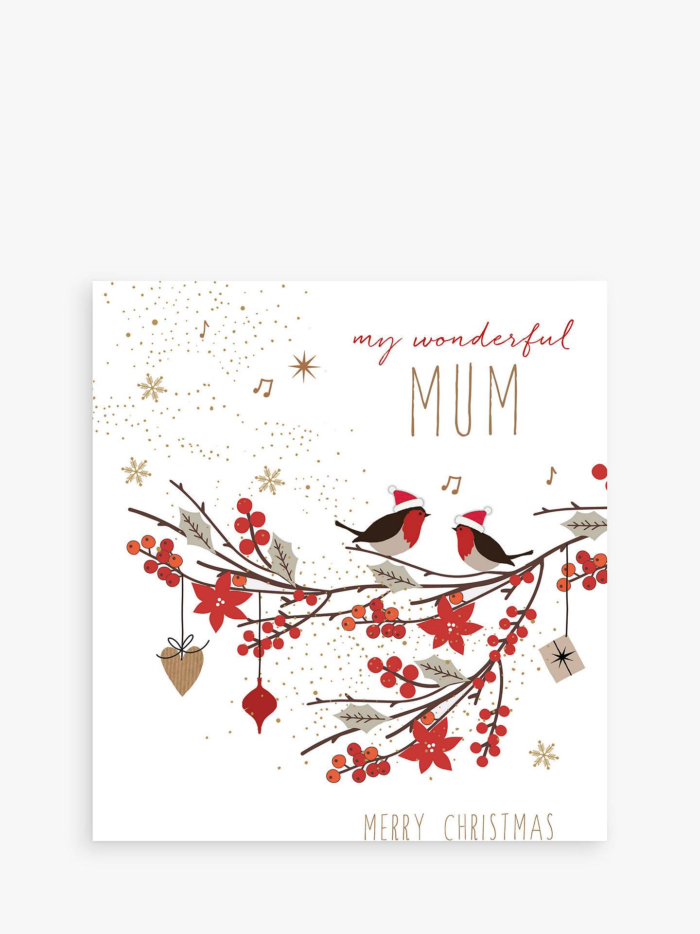 Portfolio Wonderful Mum Christmas Card at John Lewis & Partners
