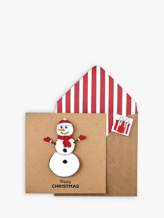 Buy Tache Crafts Snowman Christmas Card Online at johnlewis.com