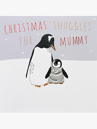 Buy Belly Button Designs Mummy Penguin Christmas Card Online at johnlewis.com