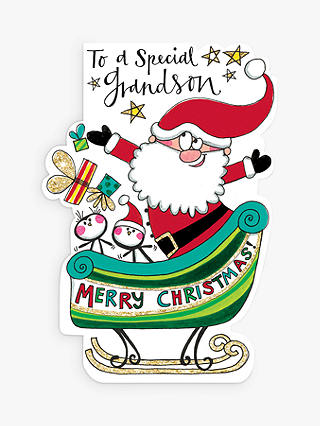 Buy Rachel Ellen Special Grandson Christmas Card Online at johnlewis.com