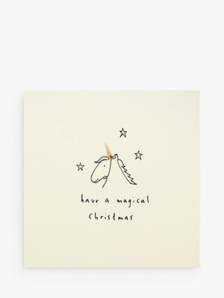 Buy Ruth Jackson Magical Unicorn Christmas Card Online at johnlewis.com