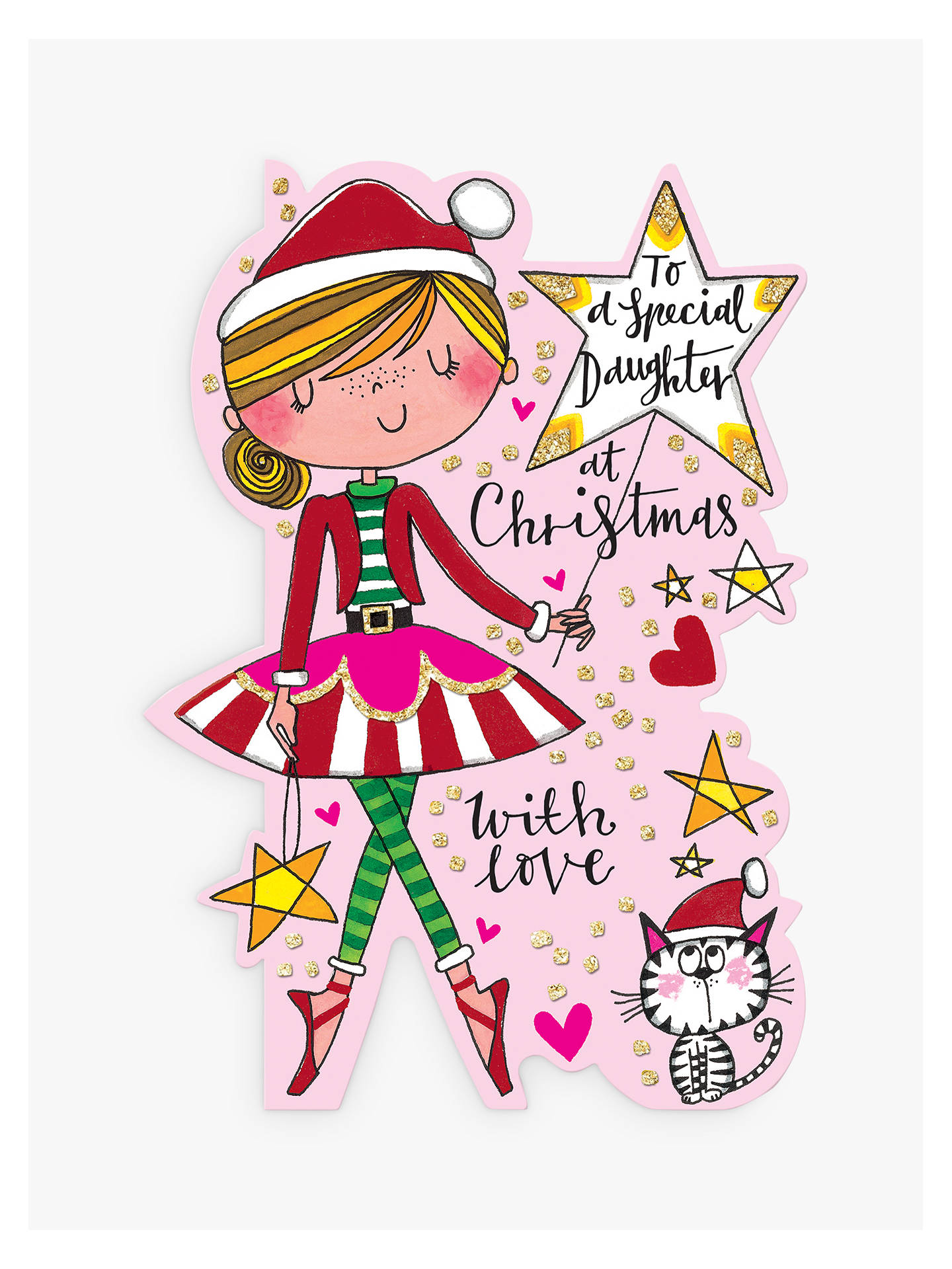Rachel Ellen Special Daughter Christmas Card at John Lewis & Partners