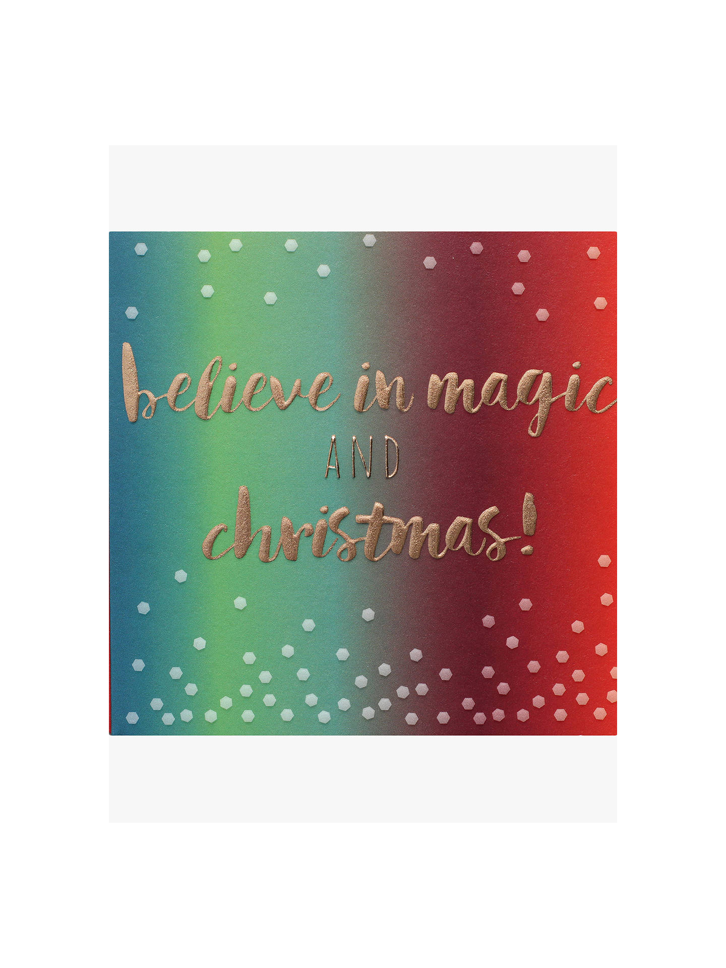 Buy Belly Button Designs Believe in Magic Christmas Card Online at johnlewis.com