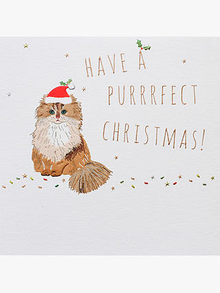 Buy Belly Button Designs Purrrfect Christmas Card Online at johnlewis.com