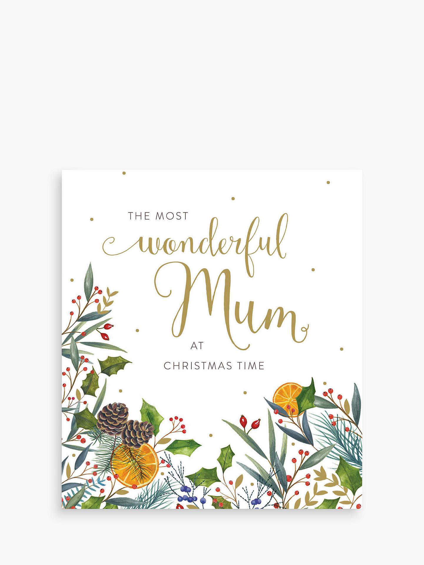 Woodmansterne Mum Christmas Card at John Lewis & Partners
