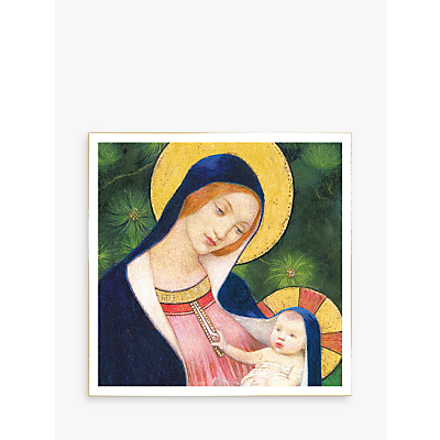 Image of Woodmansterne Madonna With Child Christmas Card