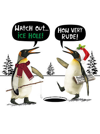 Buy Cardmix Ice Hole Christmas Card Online at johnlewis.com