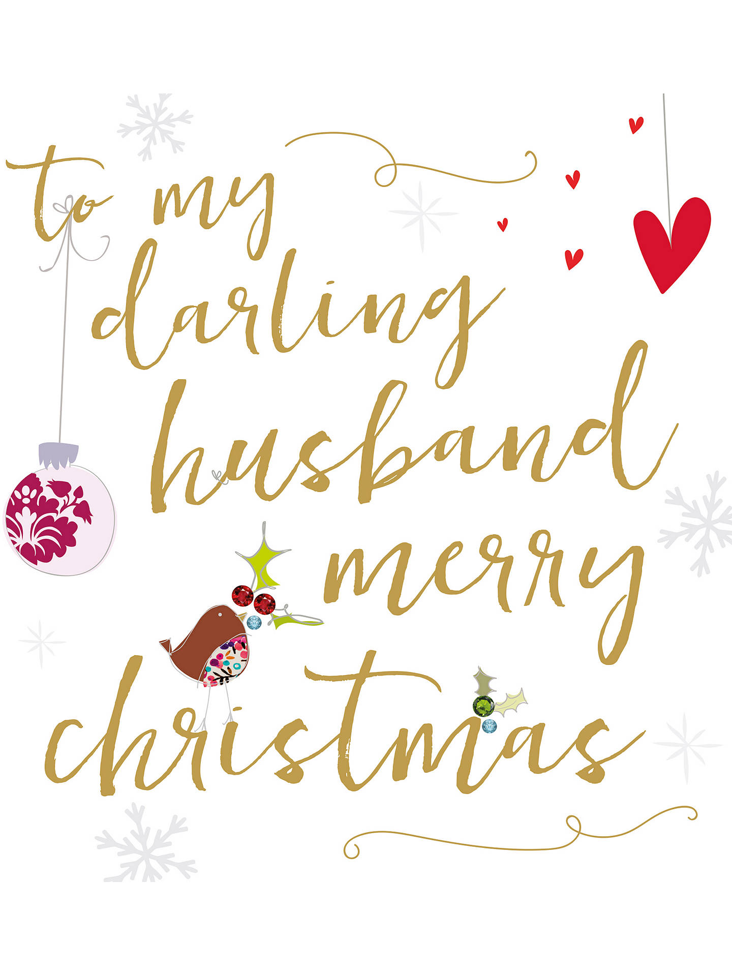Husband Christmas Cards.Caroline Gardner Ritz Husband Christmas Card At John Lewis