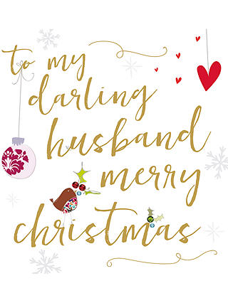 Buy Caroline Gardner Ritz Husband Christmas Card Online at johnlewis.com