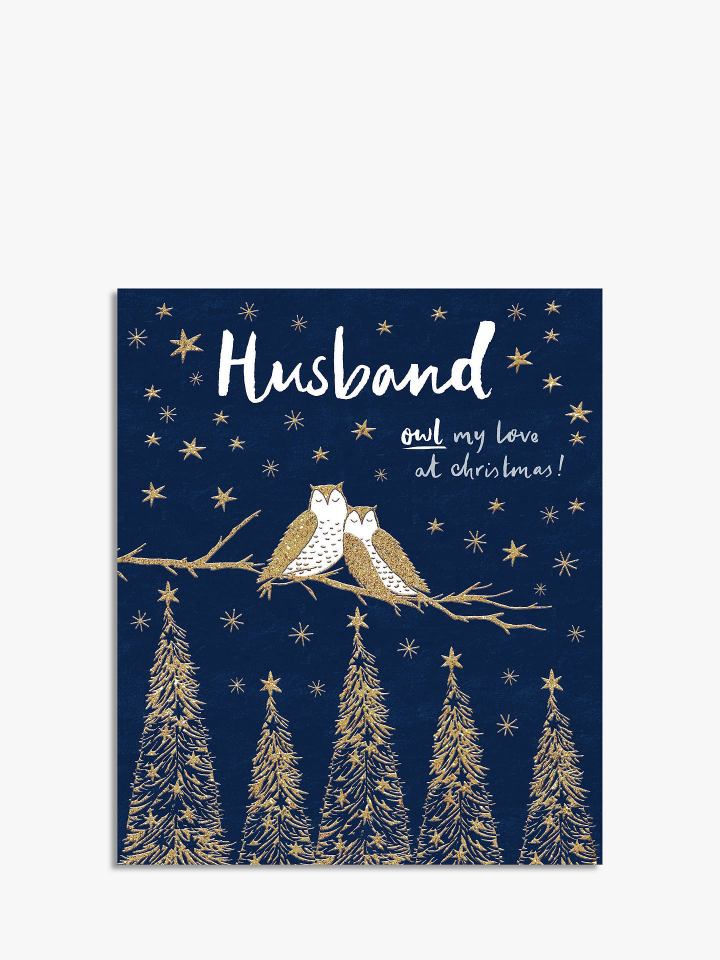 buywoodmansterne owl husband christmas card online at johnlewiscom - What To Buy My Husband For Christmas