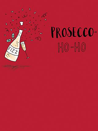 mint prosecco ho ho christmas card - Mint Christmas Cards