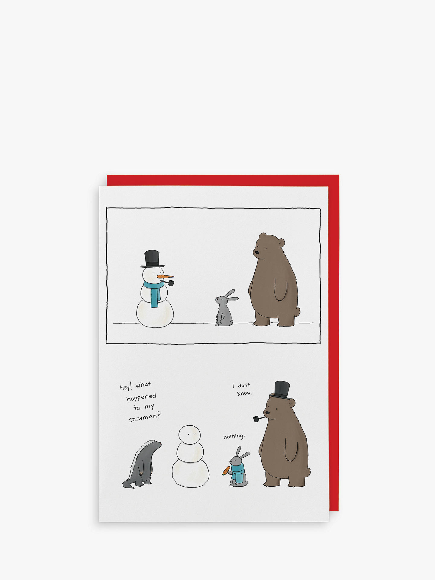 BuyRedback Cards Snowman Christmas Card Online at johnlewis.com