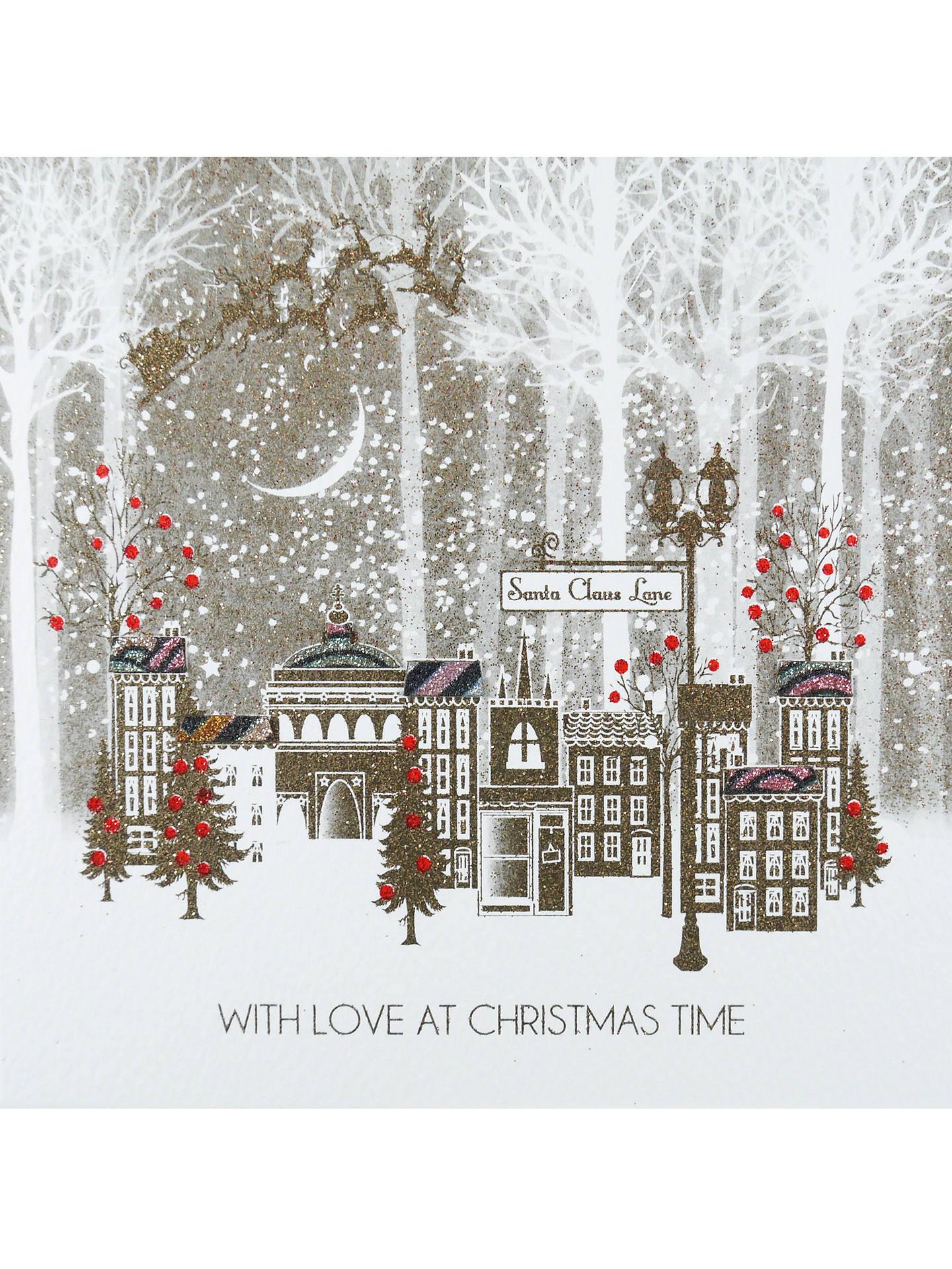 Christmas Card Lane.Five Dollar Shake Santa Claus Lane Christmas Card