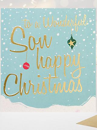 Caroline Gardner Wonderful Son Christmas Card