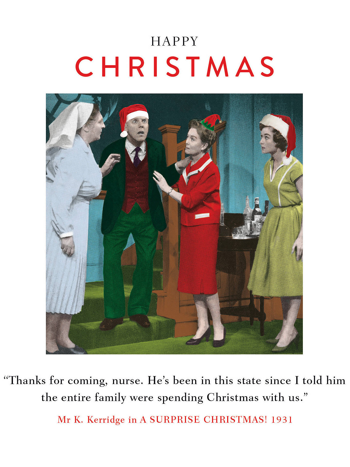 Buy Cardmix Shocked Christmas Card Online at johnlewis.com
