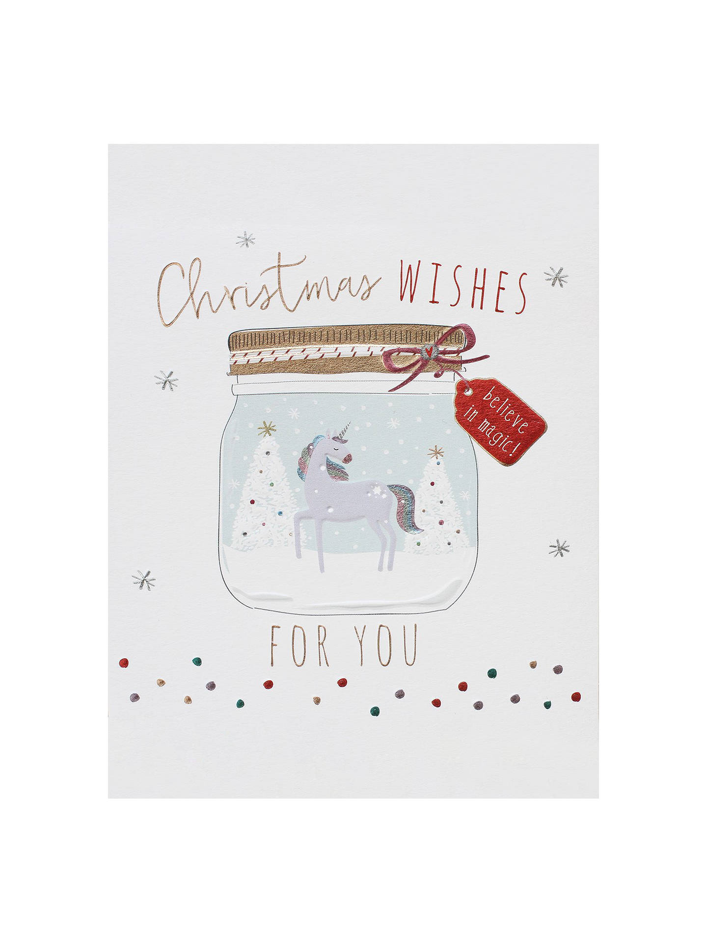 BuyBelly Button Designs Wishes Christmas Card Online at johnlewis.com