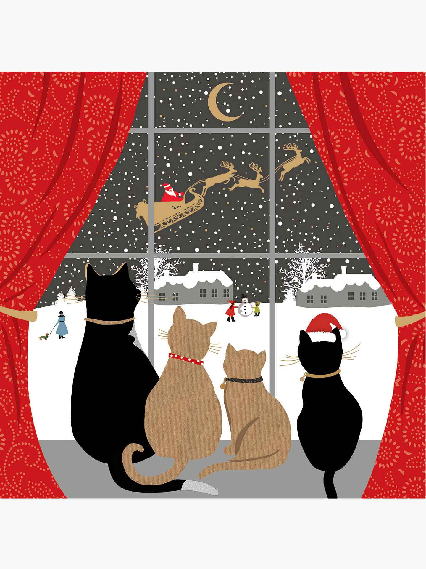 BuyPortfolio Festive Felines Christmas Card Online at johnlewis.com