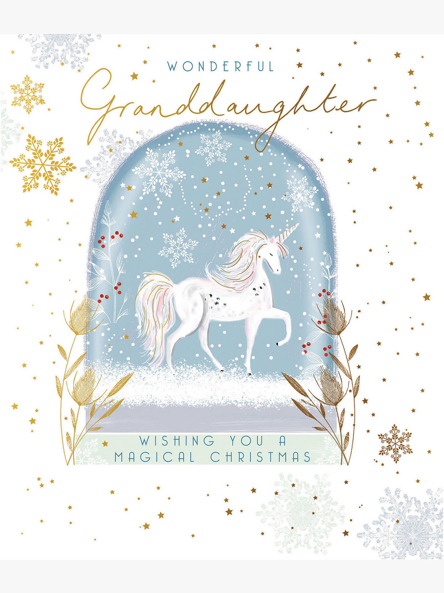 woodmansterne unicorn wonderful granddaughter christmas