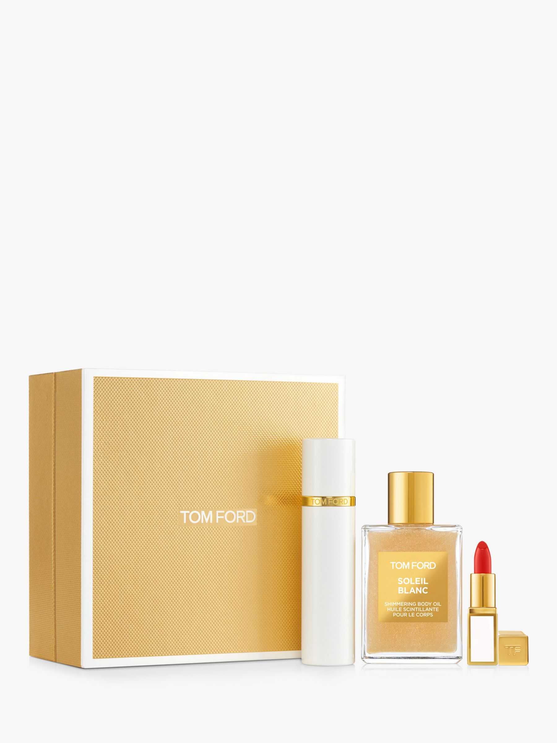 Tom Ford Soleil Blanc Shimmer Colour Travel Fragrance Gift Set At John Lewis Partners