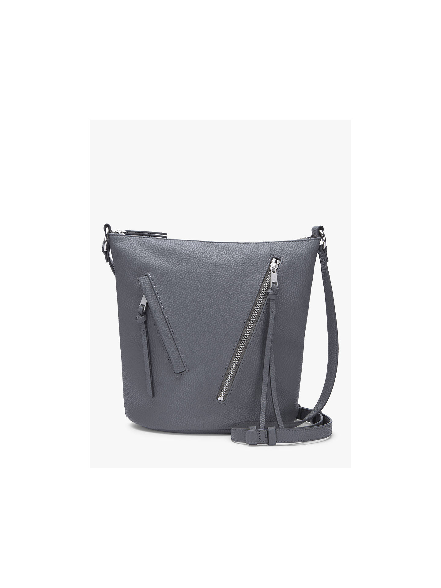 cbed612c275a Mint Velvet Eden Asymmetric Zip Bucket Bag at John Lewis   Partners