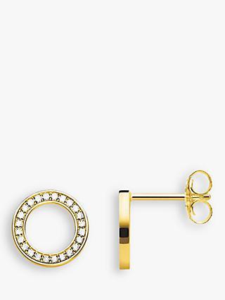 Thomas Sabo Glam Soul Pave Circle Stud Earrings