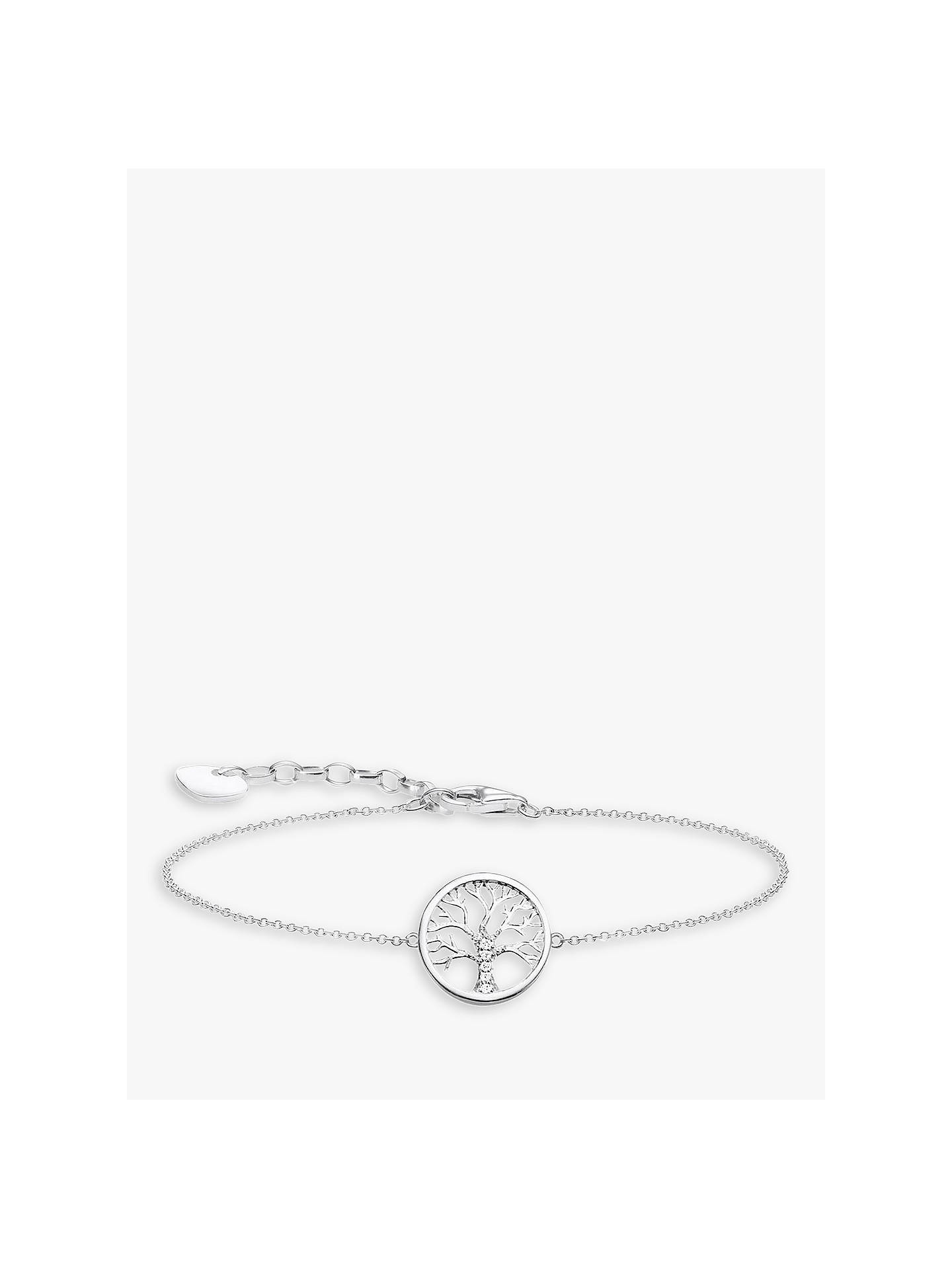 BuyTHOMAS SABO Glam & Soul Tree of Love Charm Bracelet, Silver Online at johnlewis.com